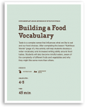 Building a Food Vocabulary Lesson Cover