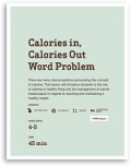 Calories In Calories Out Word Problem Lesson Cover