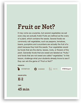 Fruit or Not Lesson Cover