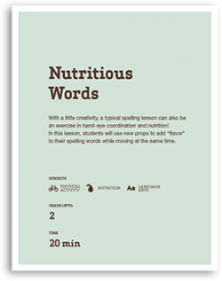 Nutritious Words Lesson Cover