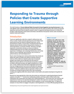 Responding to Trauma through Policies that Create Supportive Learning Environments