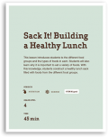 Sack It! Building a Healthy Lunch Lesson Cover