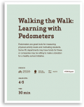 Walking the Walk Learning with Pedometers Lesson Cover