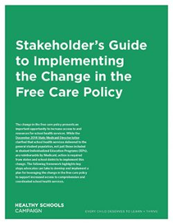 cover of Stakeholder's Guide to Implementing the Change in the Free Care Policy