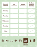 cover of physical activity tracker poster