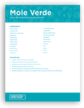 Mole Verde Recipe Cover