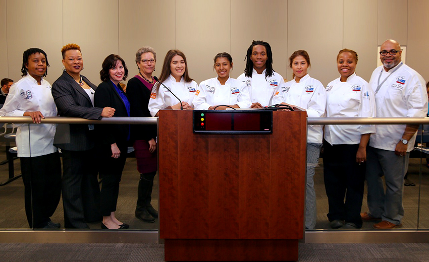 Cooking Up Change Students Honored At Chicago Board Of Education