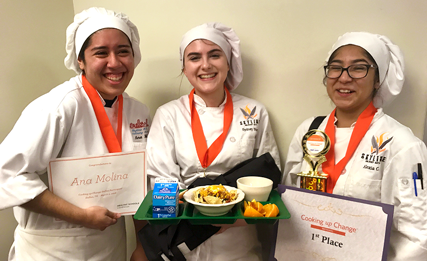 Cooking Up Change Dallas 2018 Winners Alexia, Ana And Sydney